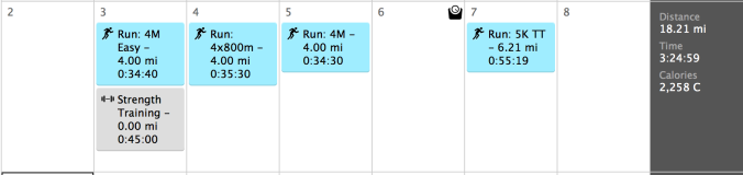Woo! Four days of running!